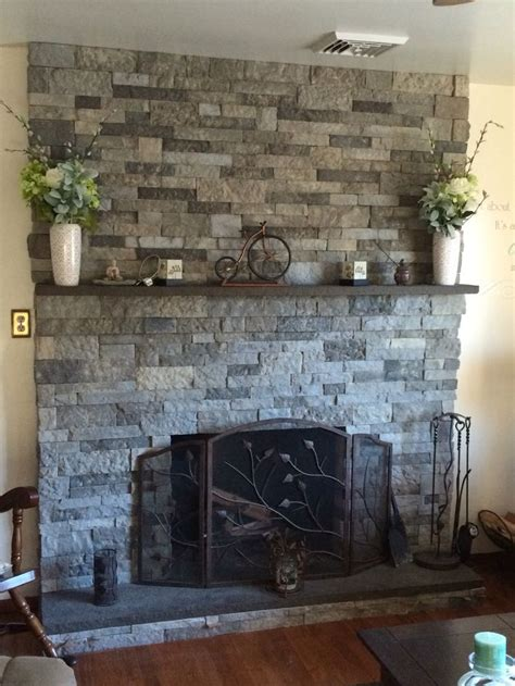 air stone fireplace easier  real stone