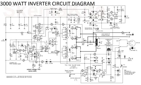 watt inverter circuit diagram electronic circuit