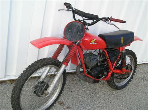 Vintage Dirt Bike In Storage