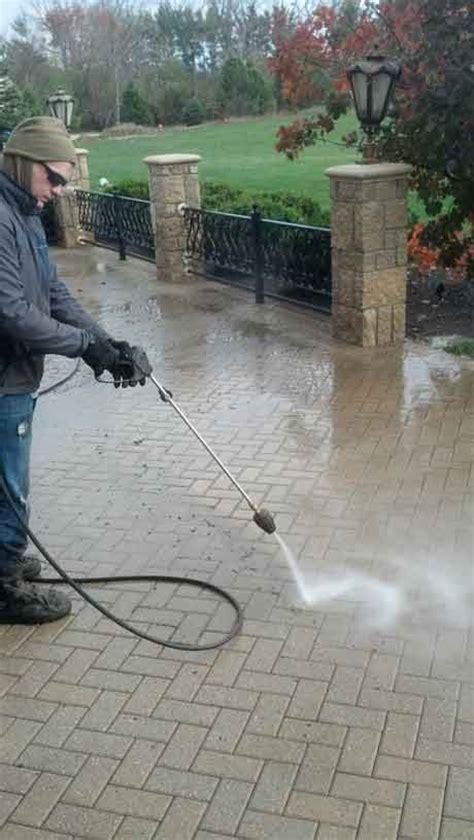 power washing brick paver patios in illinois il