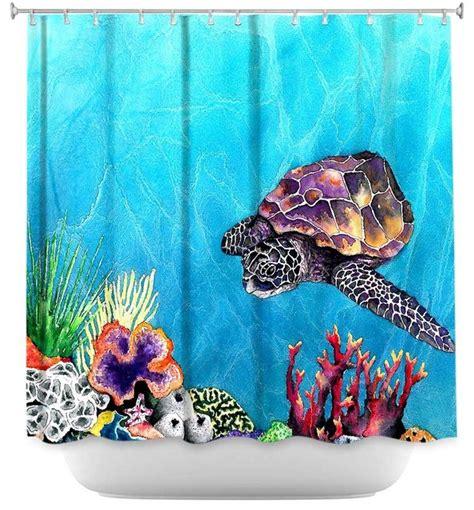 sea turtle shower curtain shower curtain artistic sea turtle modern shower