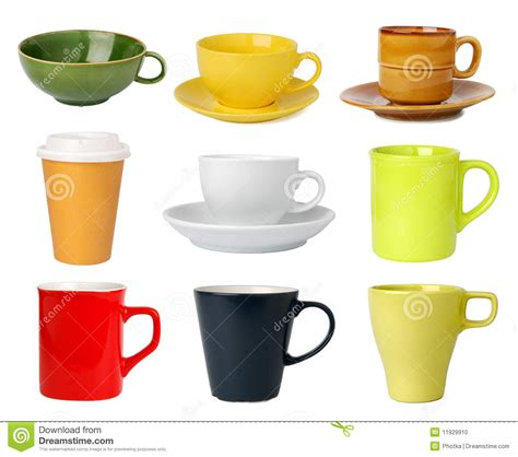 Cups And Mugs Collection Stock Photo   Image: 11929910