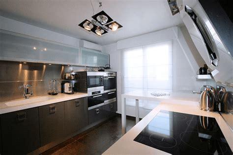 cuisine americaine appartement cuisine gris perle quelle couleur pour sol et murs