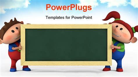 Powerpoint Template About Education, Children, School