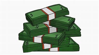Money Cartoon Animation Stacks Hand Illustration Drawn