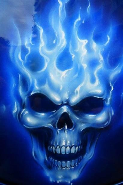 Skull Flame Cool Skulls Wallpapers Artwork Fire
