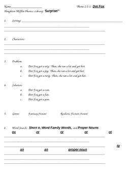 grade 1 houghton mifflin theme 2 phonics library