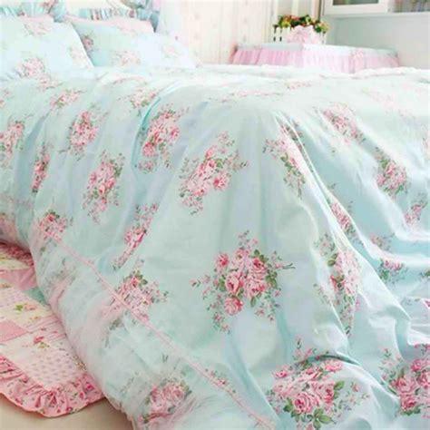 shabby chic bed set rose bedding
