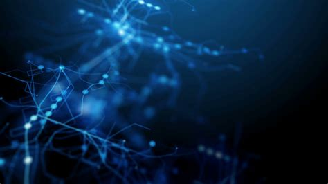 Blue Abstract Futuristic Technology Background Motion