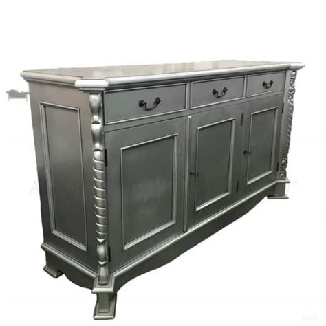 Silver Sideboard by Antique Silver Provincial Sideboard Buffet 3 Door