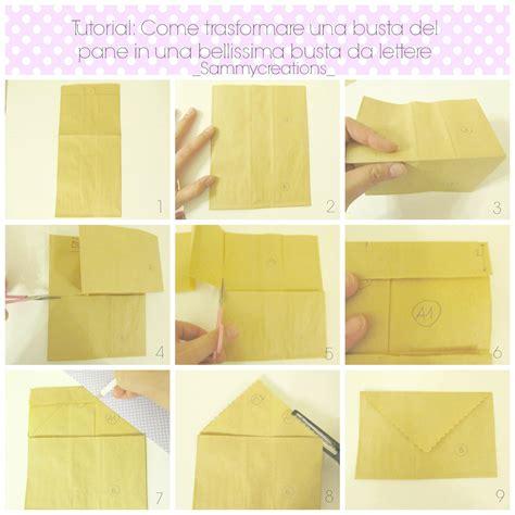 fare una busta da lettere tutorial come trasformare una busta pane in una busta