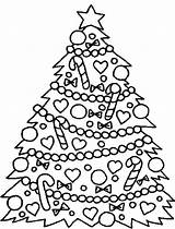 Coloring Tree Christmas Pages Trees Easy Decorated Printable Print Decoration Coloringhome Sheets Xmas Drawing Charlie Brown Getdrawings Traceable Ages Popular sketch template