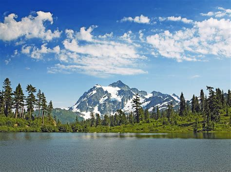 Mount Shuksan From Picture Lake In Mt. Baker Snoqualmie