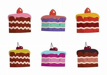 Cake Slice Isolated Vectors Icons Vecteezy Slices