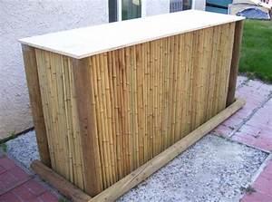 diy garten bar aus rundholz und bambus freshouse With französischer balkon mit bar für den garten