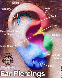 los piercing tipos de piercing en la oreja