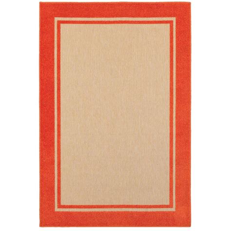 home decorators collection bondi tangerine 9 ft 10 in x