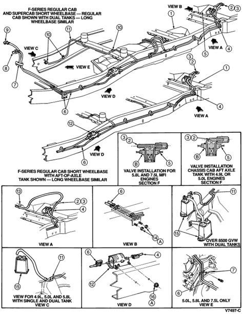 95 F150 Fuel Tank Diagram by I A 95 F250 With A 351 In It I Am Replacing The Aft