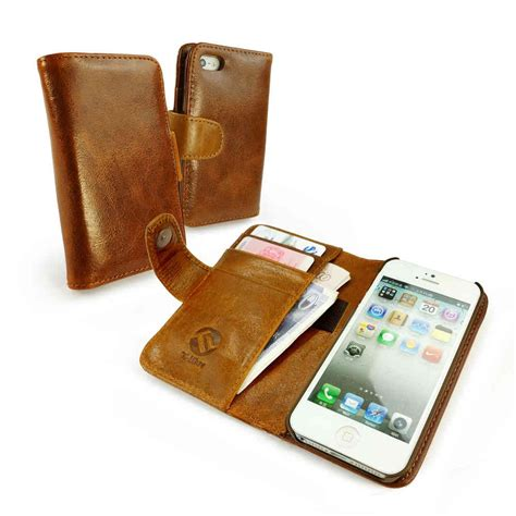 leather iphone cases apple iphone 5 5s se leather phone cover in brown