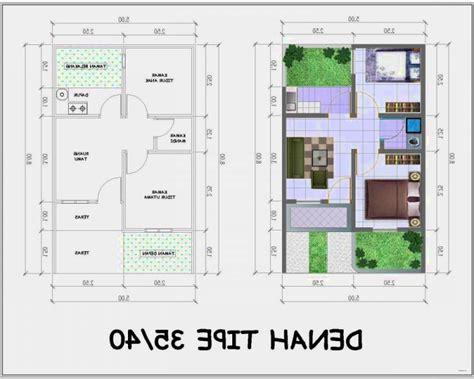 terpopuler  denah rumah minimalistype