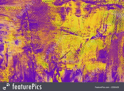 Painting Art Purple Yellow Grunge  Stock Image I2550435