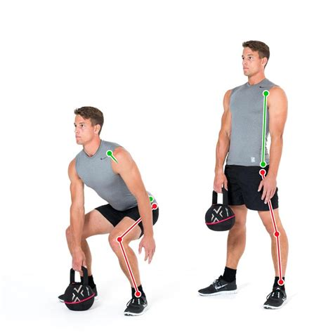 deadlift kettlebell arm exercise legs