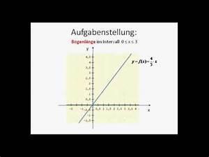 Bogenlänge Einer Kurve Berechnen : beispiel bogenl nge einer funktion berechnen mathematik analysis youtube ~ Themetempest.com Abrechnung