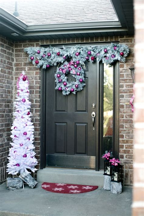 holiday front door decorations lets mingle blog