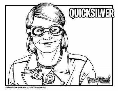 Quicksilver Draw Drawing Coloring Movie Too Drawittoo