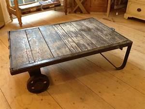 Vintage Industrial Coffee Table - The Consortium, Vintage