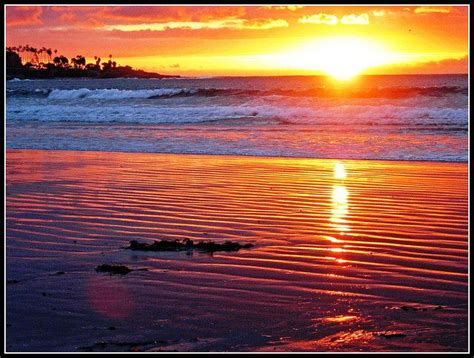 Sunset San Diego Jolla Shores Beach Beautiful