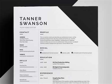 resume color or black and white resume template designs you can and edit for free