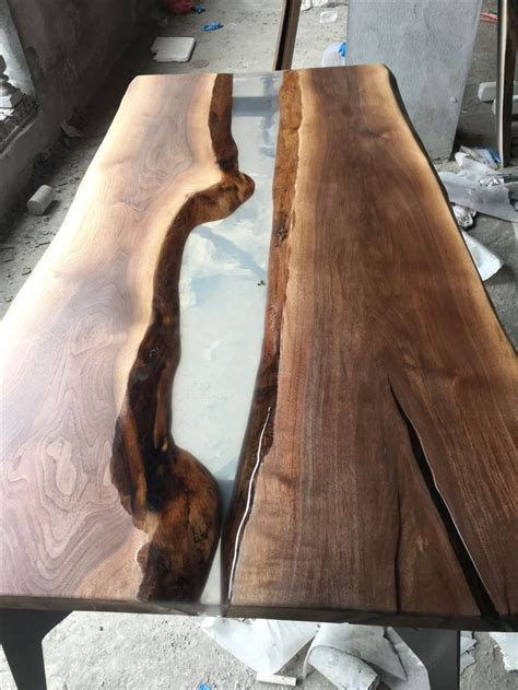 wood resin table ideas  pinterest resin table