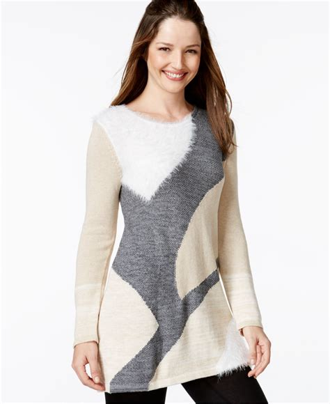 style and co sweaters lyst style co only at macy 39 s in gray