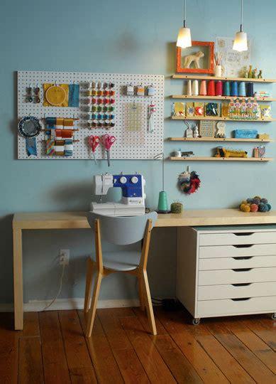 bureau treteau ikea sewing room ideas the seasoned homemaker