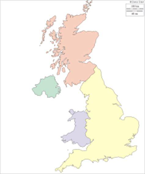 Carte Du Royaume Uni Sans Les Villes by G