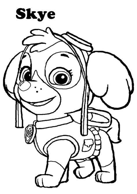 Sky Paw Patrol Coloring Pages Coloring Home