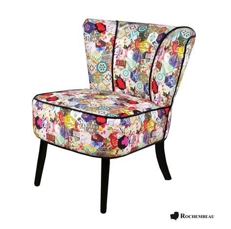 fauteuil design velour patchwork