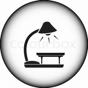 Stehlampe Mit Tisch : symbol mit tisch und stehlampe vektorgrafik colourbox ~ Indierocktalk.com Haus und Dekorationen