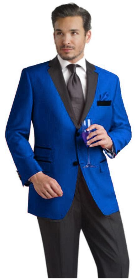 light blue tuxedo two toned royal light blue two button velvet or suit fabr