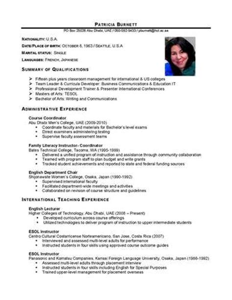Us Multinational Style Resume by Remember That Your International Resume Must Be And