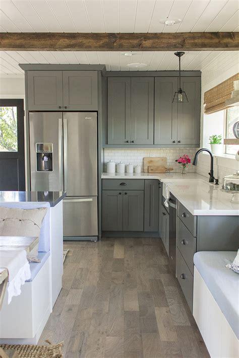 grey flooring kitchen 20 gorgeous gray and white kitchens maison de pax
