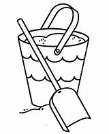 Bucket Coloring Shovel Sand Template Filling Filler Getcolorings Place Printable Tocolor Getdrawings sketch template