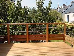 Garde Corps Exterieur Bois : terrasse bois et garde corps patio d co ext rieur ~ Dailycaller-alerts.com Idées de Décoration