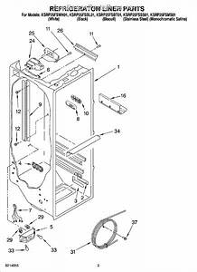 Parts For Kitchenaid Ksrp25fsms01  Refrigerator Liner