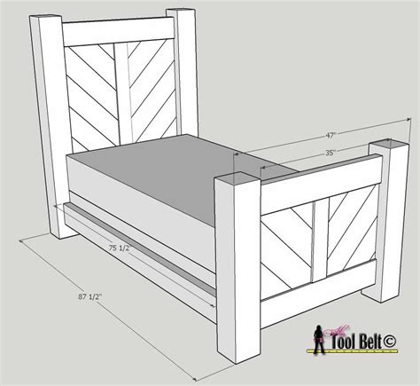 ana white rustic barnwood bed plan diy projects