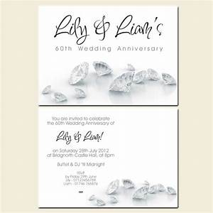 60th wedding anniversary invitations diamonds With free printable 60th wedding anniversary invitations