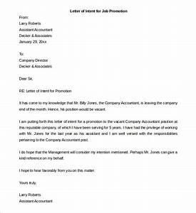 letter of interest for promotion template - letter of interest for job promotion sample