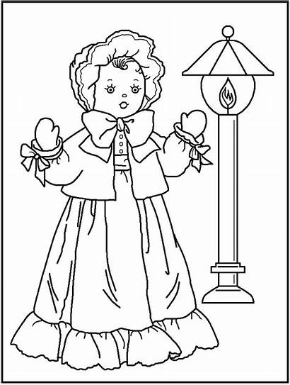 Coloring Doll American Pages Dolls Printable Dall