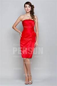 Robe Rouge Mariage Invité : robe rouge moulante au genou bustier drap pour invit mariage ~ Farleysfitness.com Idées de Décoration